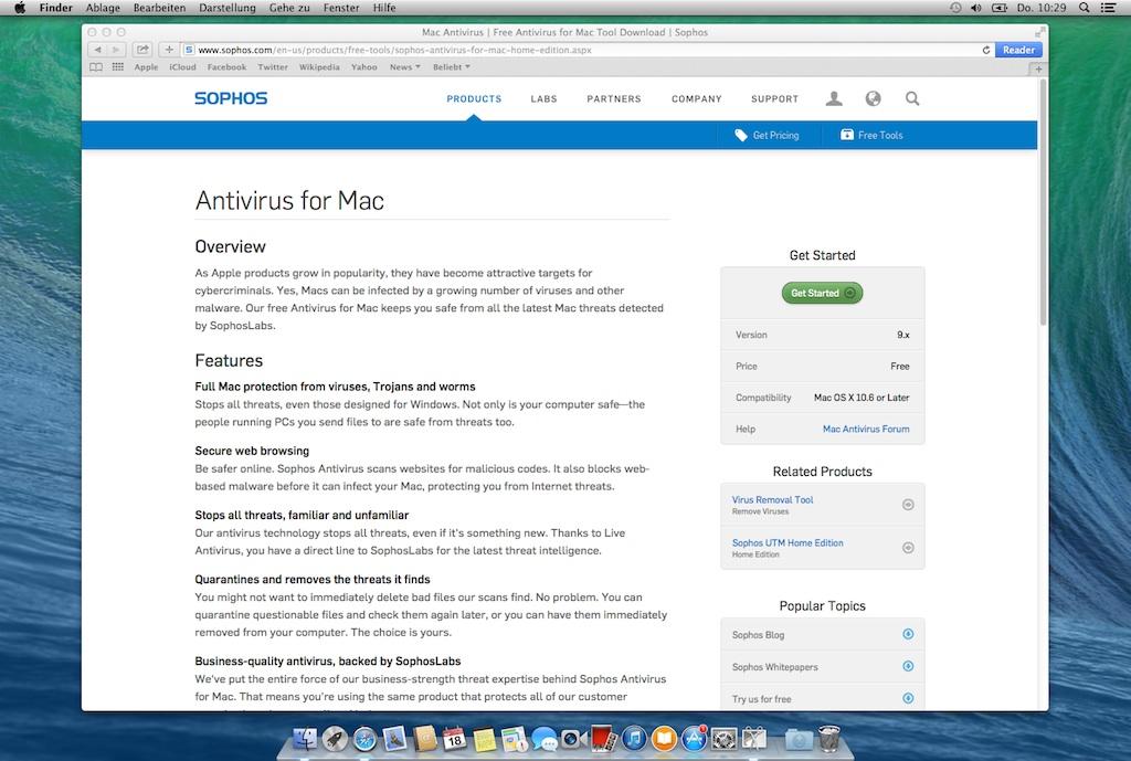 Sophos Anti-Virus für Mac OSX [Gauß-IT-Zentrum]
