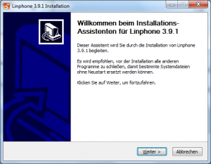 Linphone Softclient [Gauß-IT-Zentrum]