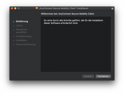 MacOS Anyconnect installieren